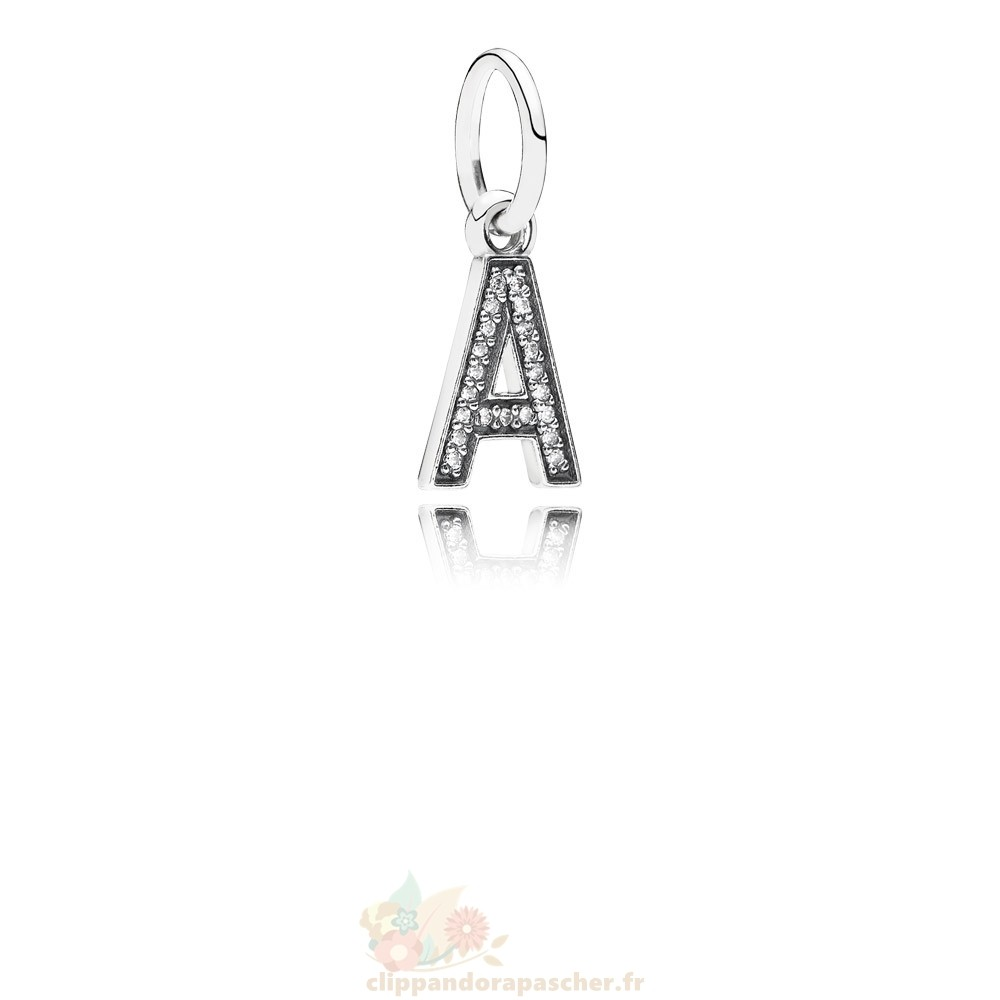 Discount Pandora Pandora Alphabet Symbols Charms Lettre A Dangle Charm Clear Cz