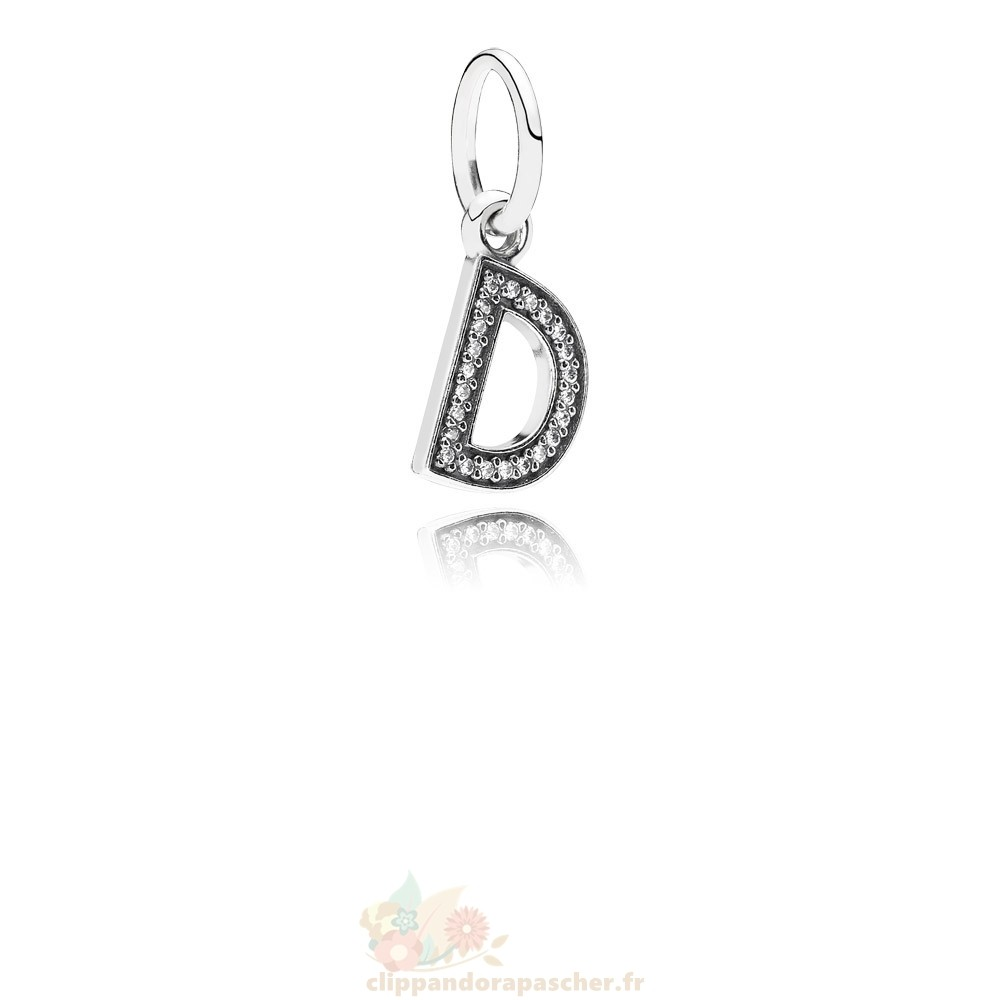 Discount Pandora Pandora Alphabet Symbols Charms Lettre D Dangle Charm Clear Cz