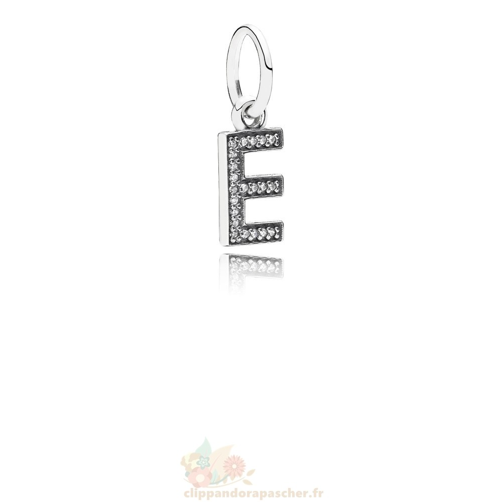 Discount Pandora Pandora Alphabet Symbols Charms Lettre E Dangle Charm Clear Cz