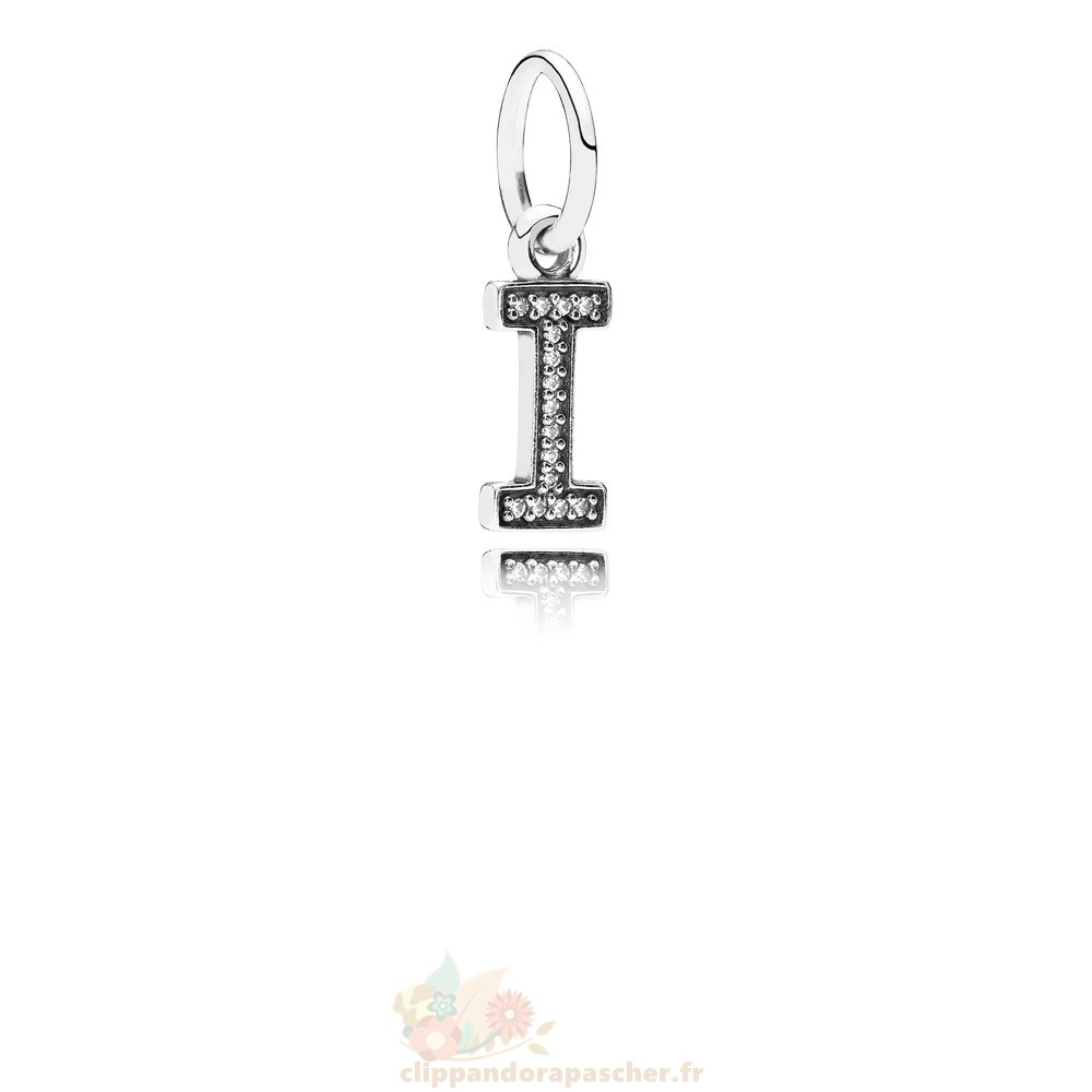 Discount Pandora Pandora Alphabet Symbols Charms Lettre I Dangle Charm Clear Cz