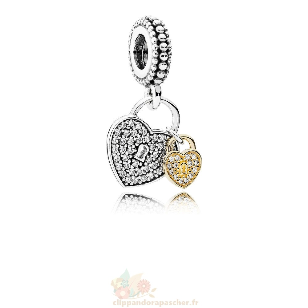 Discount Pandora Pandora Symboles De Amour Charms Amour Serrures Dangle Charme Clear Cz