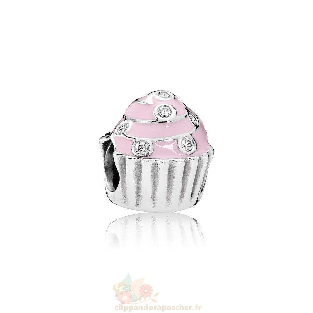 Discount Pandora Sweet Cupcake Charm Lumiere Rose Email Clear Cz