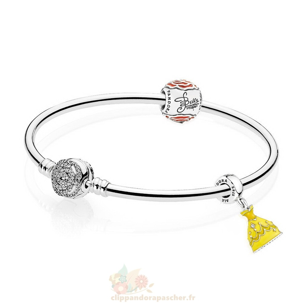 Discount Pandora Disney Belle'S Enchanted Rose Bracelets Set