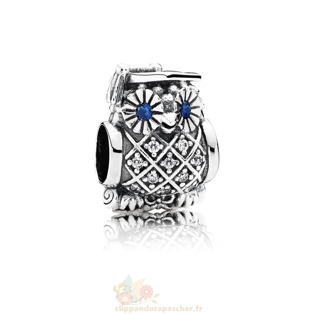 Discount Pandora Pandora Passions Charms Carriere Aspirations Hibou Diplome Swiss Blue Crystal Clear Cz