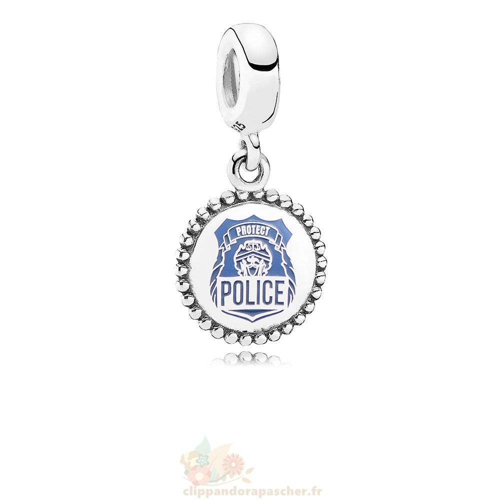 Discount Pandora Police Pendre Charm Bleu Email