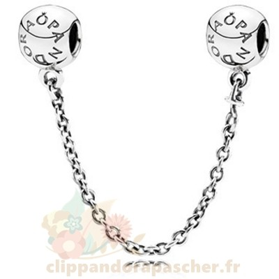 Discount Pandora Pandora Chaines De Securite Pandora 925 Logo Safety Chain
