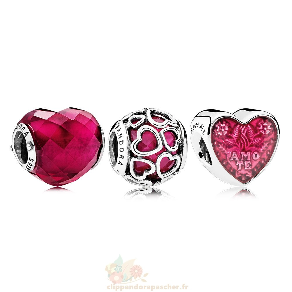 Discount Pandora Lucky In Love Fuchsia Charm Pack