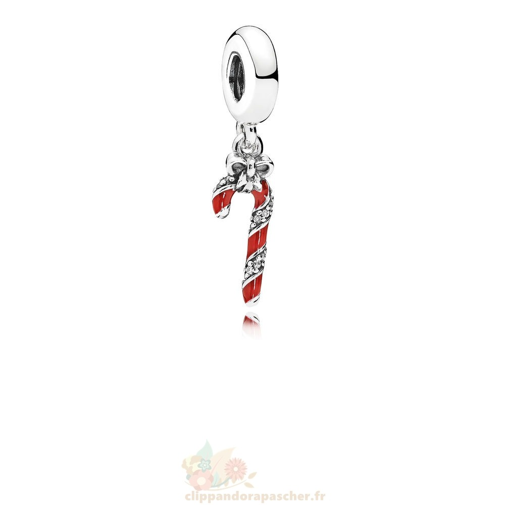 Discount Pandora Dangles Mousseux Candy Cane Dangle Berry Rouge Email Clear Cz