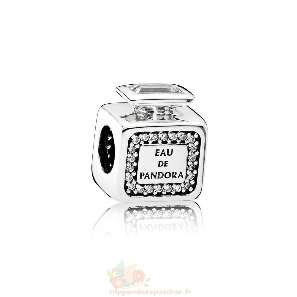 Discount Pandora Pandora Passions Breloques Chic Glamour Signeature Scent Clear Cz
