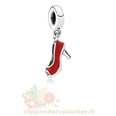 Discount Pandora Pandora Passions Charms Chic Breloque Glamour Red Stiletto Red Enamel