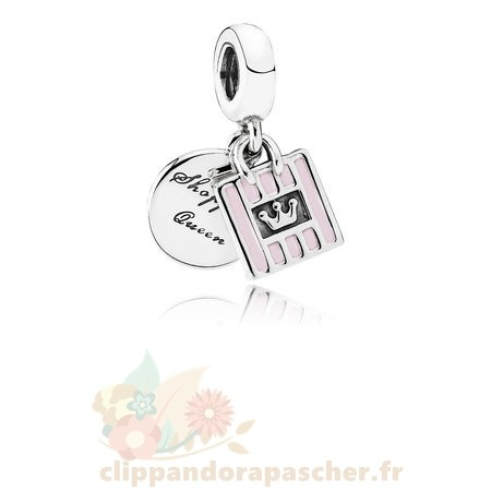 Discount Pandora Pandora Passions Charms Chic Glamour Achats Queen Dangle Charm Soft Rose Email