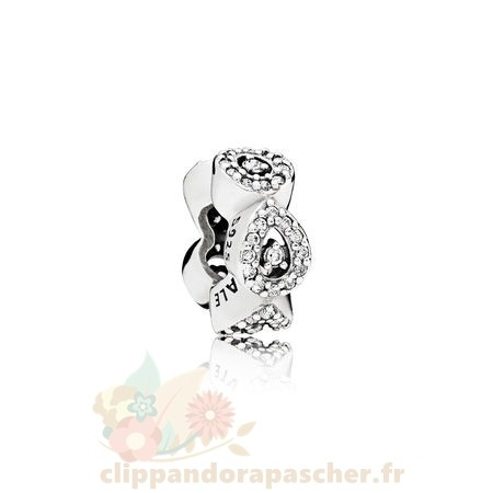 Discount Pandora Pandora Passions Charms Chic Glamour Cascading Glamour Spacer Clear Cz