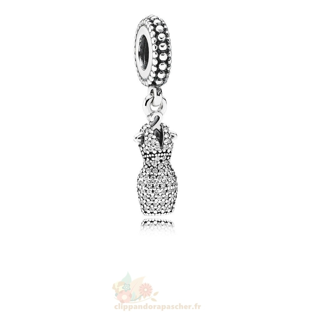 Discount Pandora Pandora Passions Charms Chic Robe Glamour Dazzling Dangle Charm Clear Cz