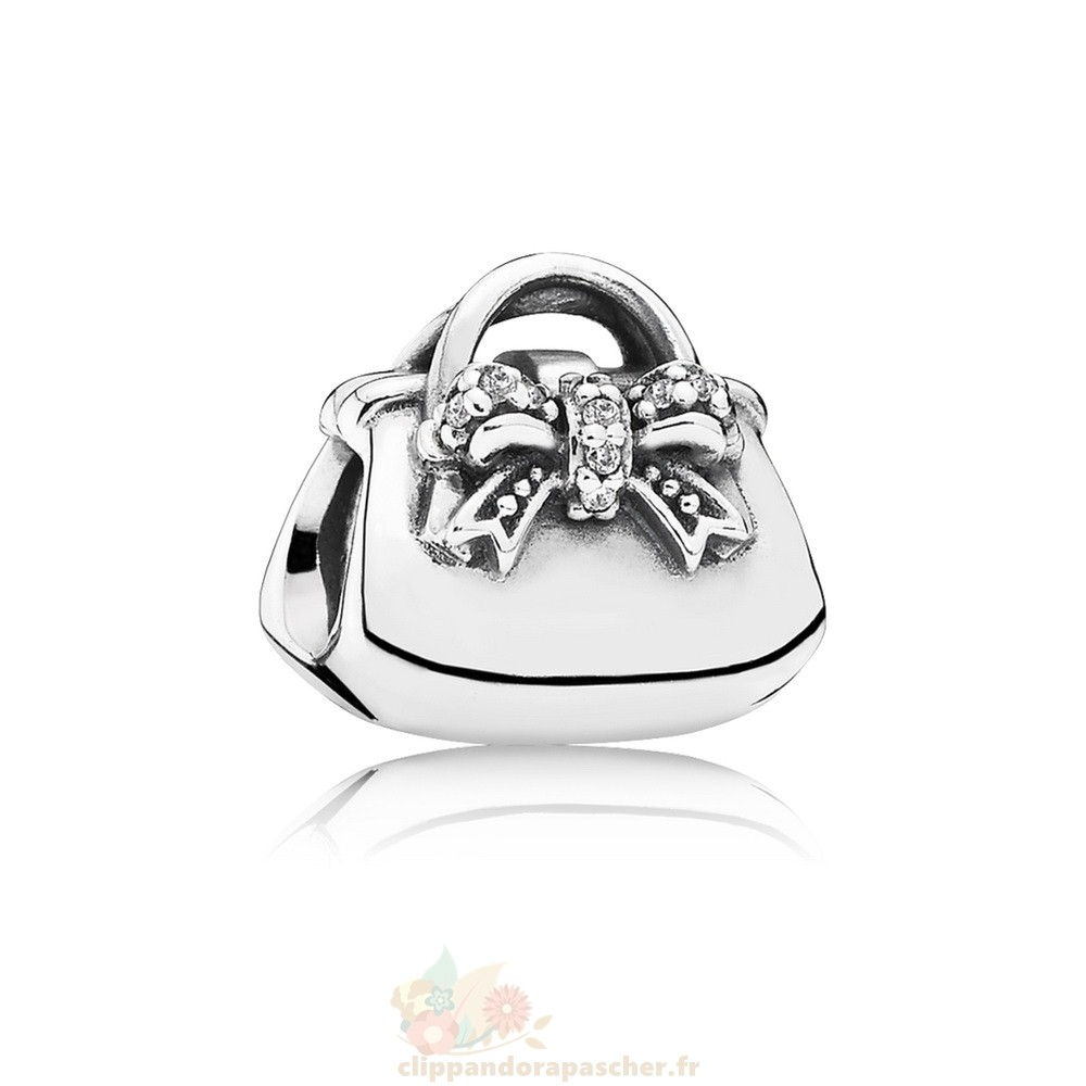 Discount Pandora Passions Charms Chic Charmant Sac A Main Clear Cz