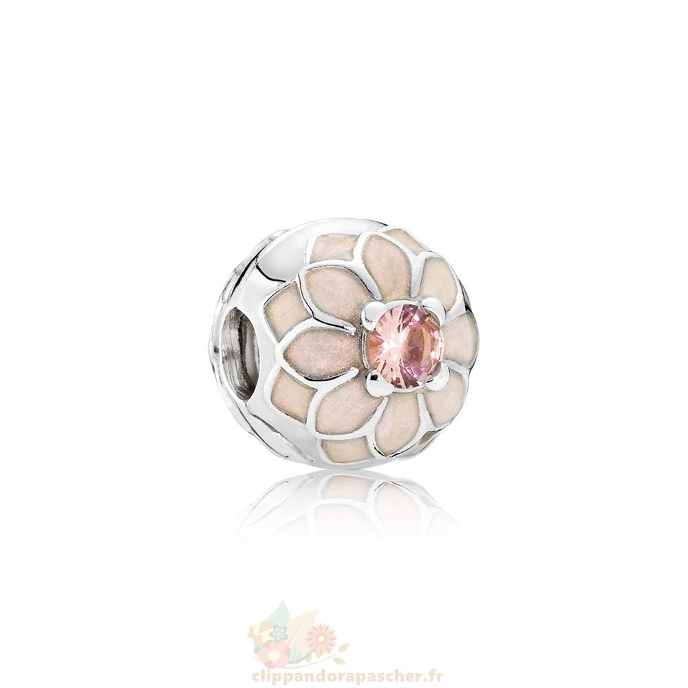Discount Pandora Pandora Clips Breloques Blooming Dahlia Clip Creme Email Blush Rose Crystal