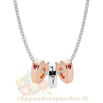 Discount Pandora Pandora Rose Two Hearts Spacer Colliers