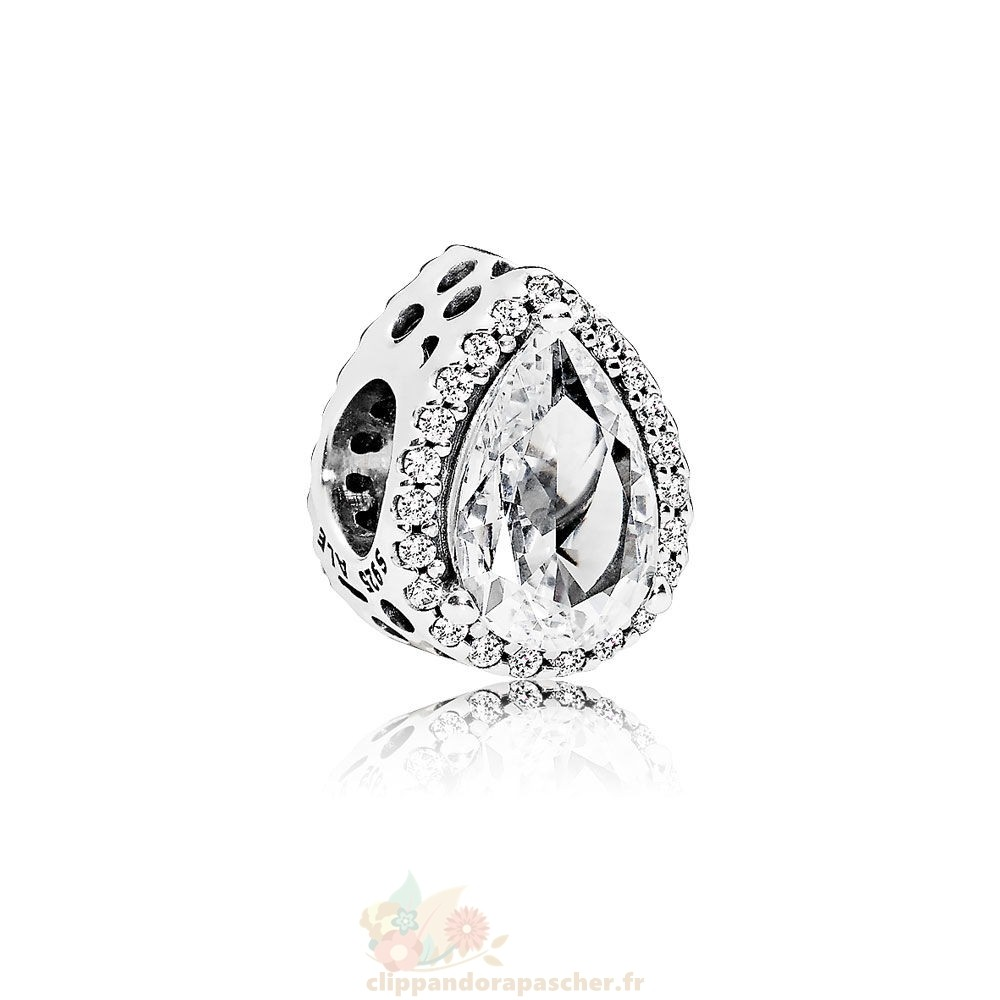 Discount Pandora Contemporains Radiant Teardrop Charm Clear Cz
