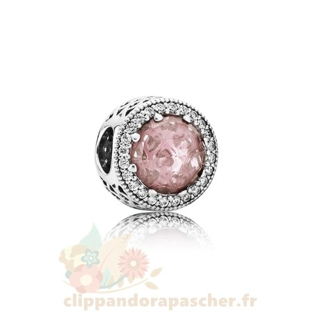 Discount Pandora Pandora Breloque De Couleur Charms Radiant Coeurs Charm Blush Rose Crystal Clear Cz