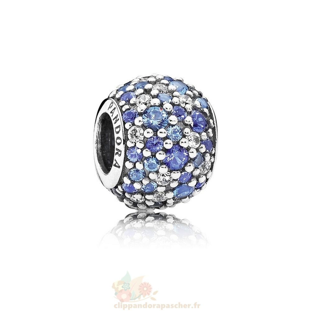 Discount Pandora Pandora Breloque De Couleur Charms Sky Mosaique Pave Charm Mixed Blue Crystals Clear Cz