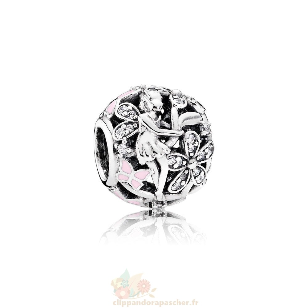 Discount Pandora Pandora Fairy Tale Charms Dazzling Daisy Fairy Lumiere Rose Enamel Clear Cz