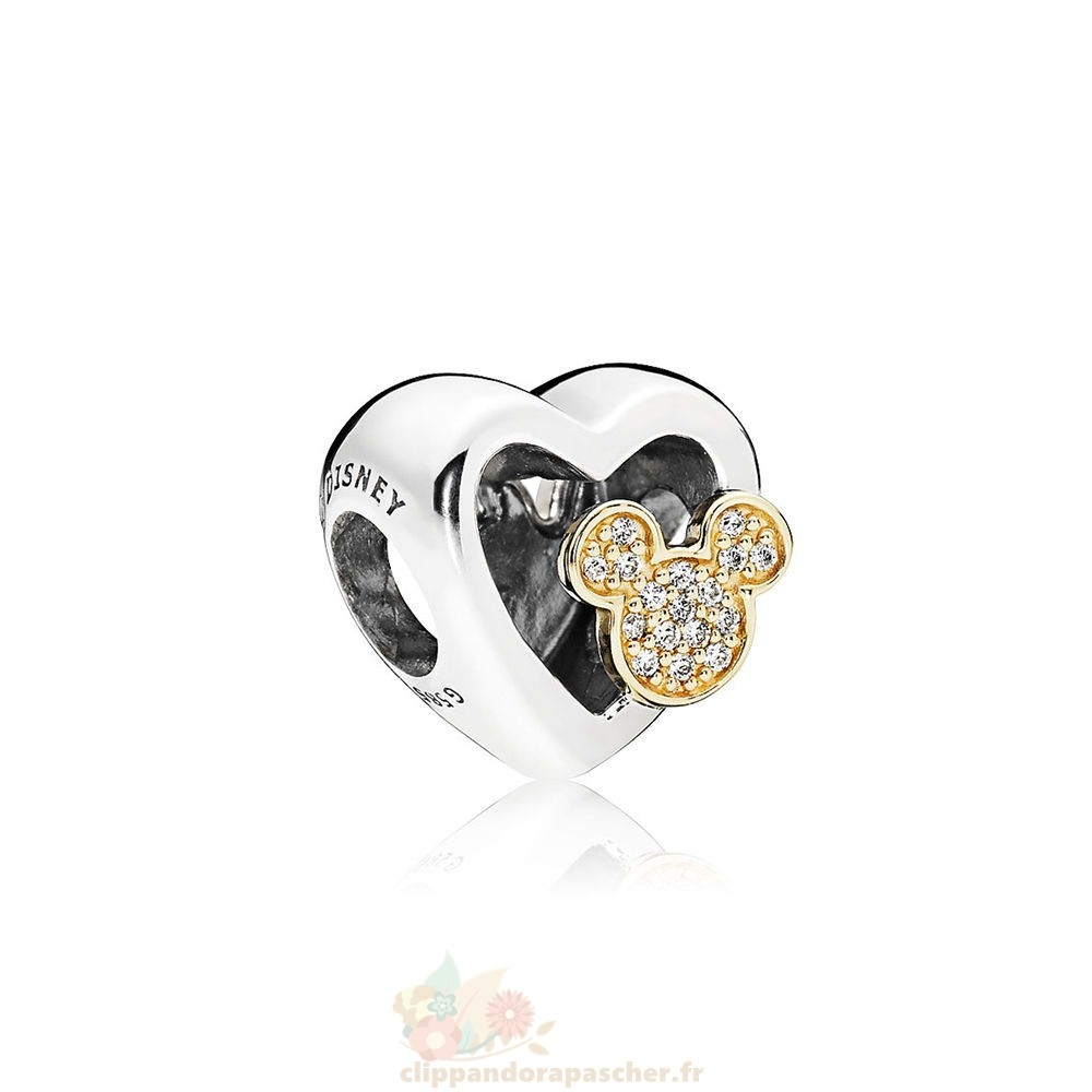 Discount Pandora Collection D'Hiver Disney Mickey Minnie Amour Icones Charme Red Clear Cz