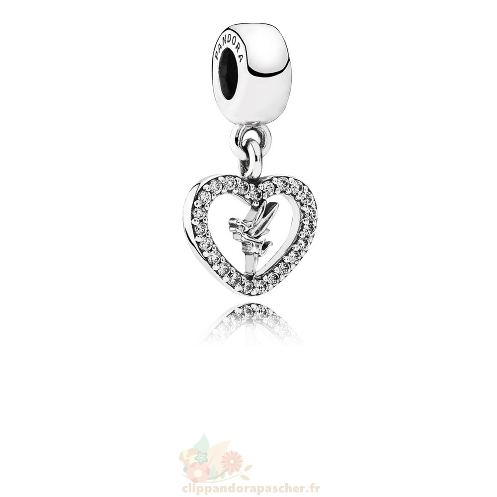Discount Pandora Disney Amour Tinker Bell Dangle Charm Clear Cz