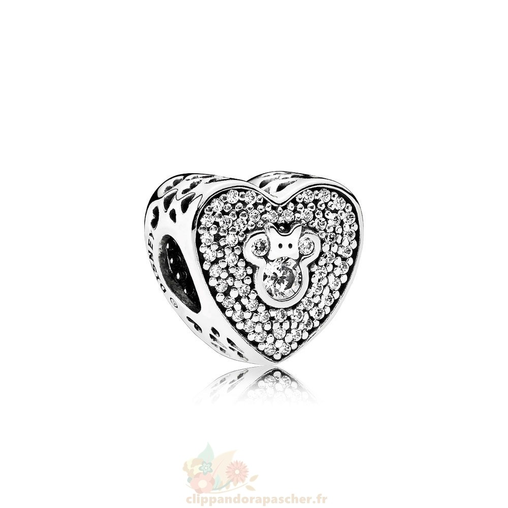 Discount Pandora Disney Mickey Minnie Mousseux Coeur