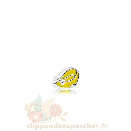 Discount Pandora Petite Charms Disney Minnie Chaussure Lumiere Yellow Enamel