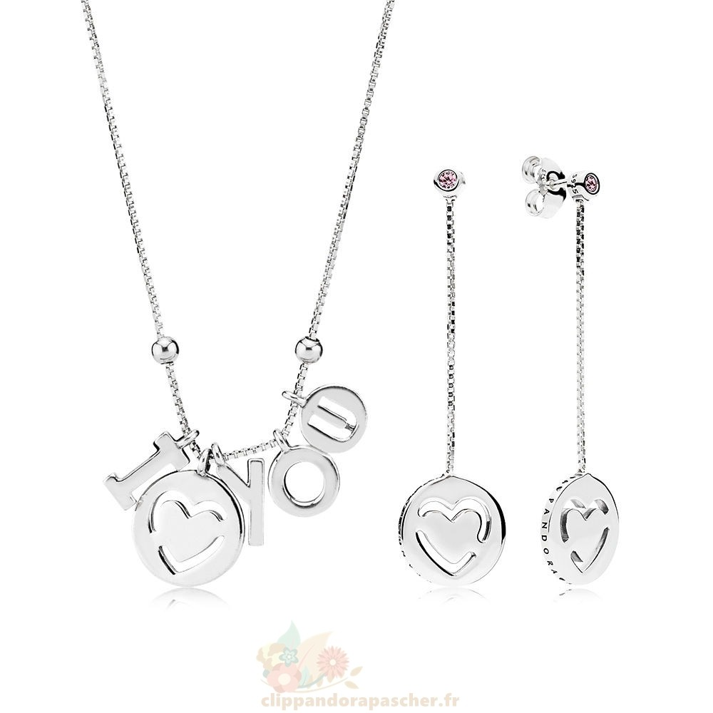Discount Pandora I Love You Colliers And Boucles D'Oreilles Gift Set