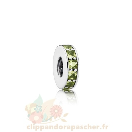 Discount Pandora Pandora Entretoises Charms Eternity Spacer Olive Vert Crystal