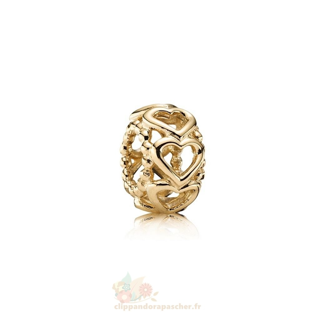 Discount Pandora Pandora Entretoises Charms Lucky In Amour Coeur Spacer 14K Or