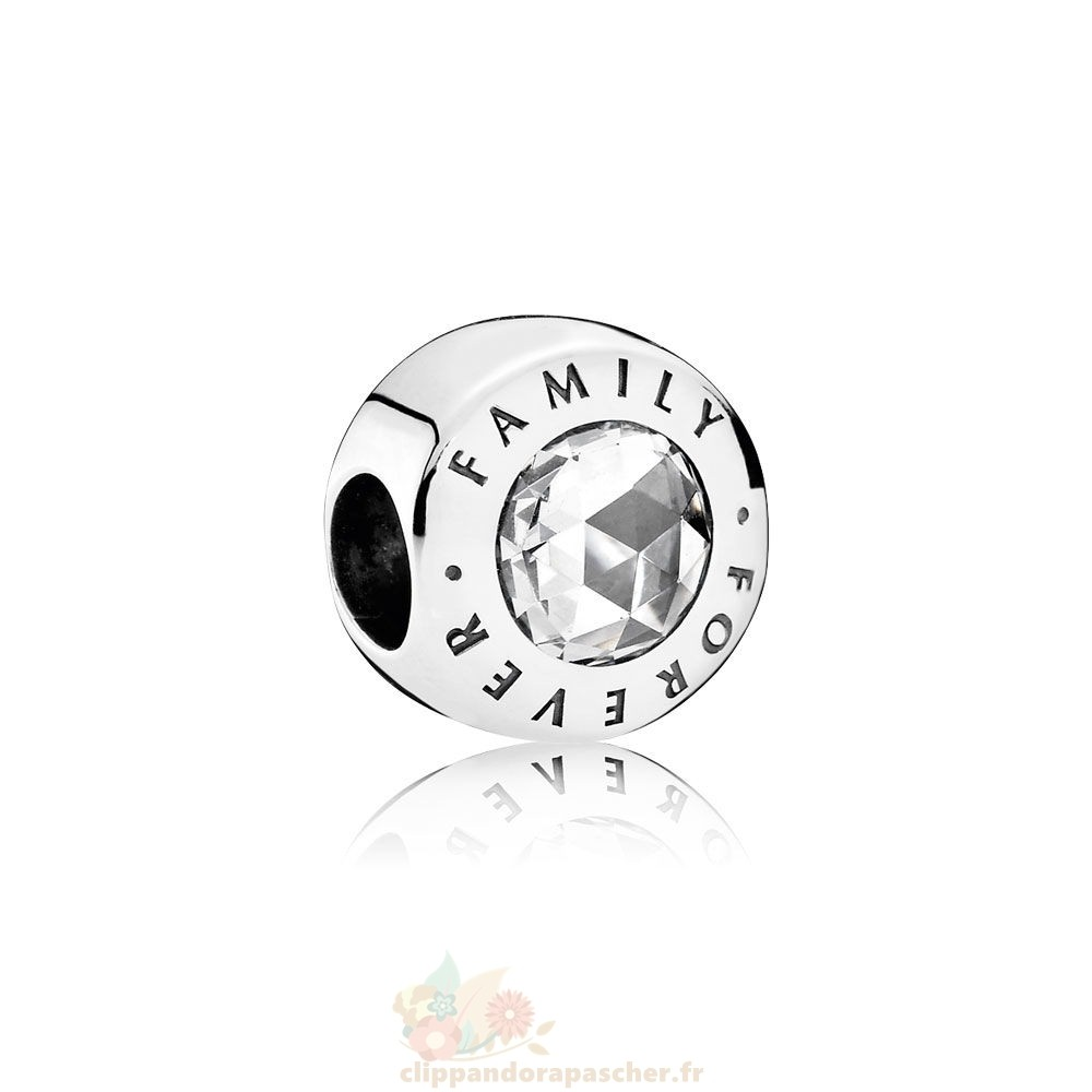 Discount Pandora Famille Charms Famille Pour Toujours Clear Cz