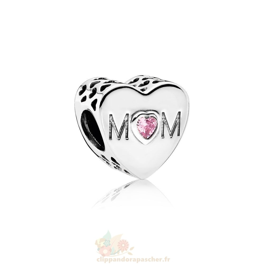 Discount Pandora Famille Charms Mere Coeur Charme Rose Cz