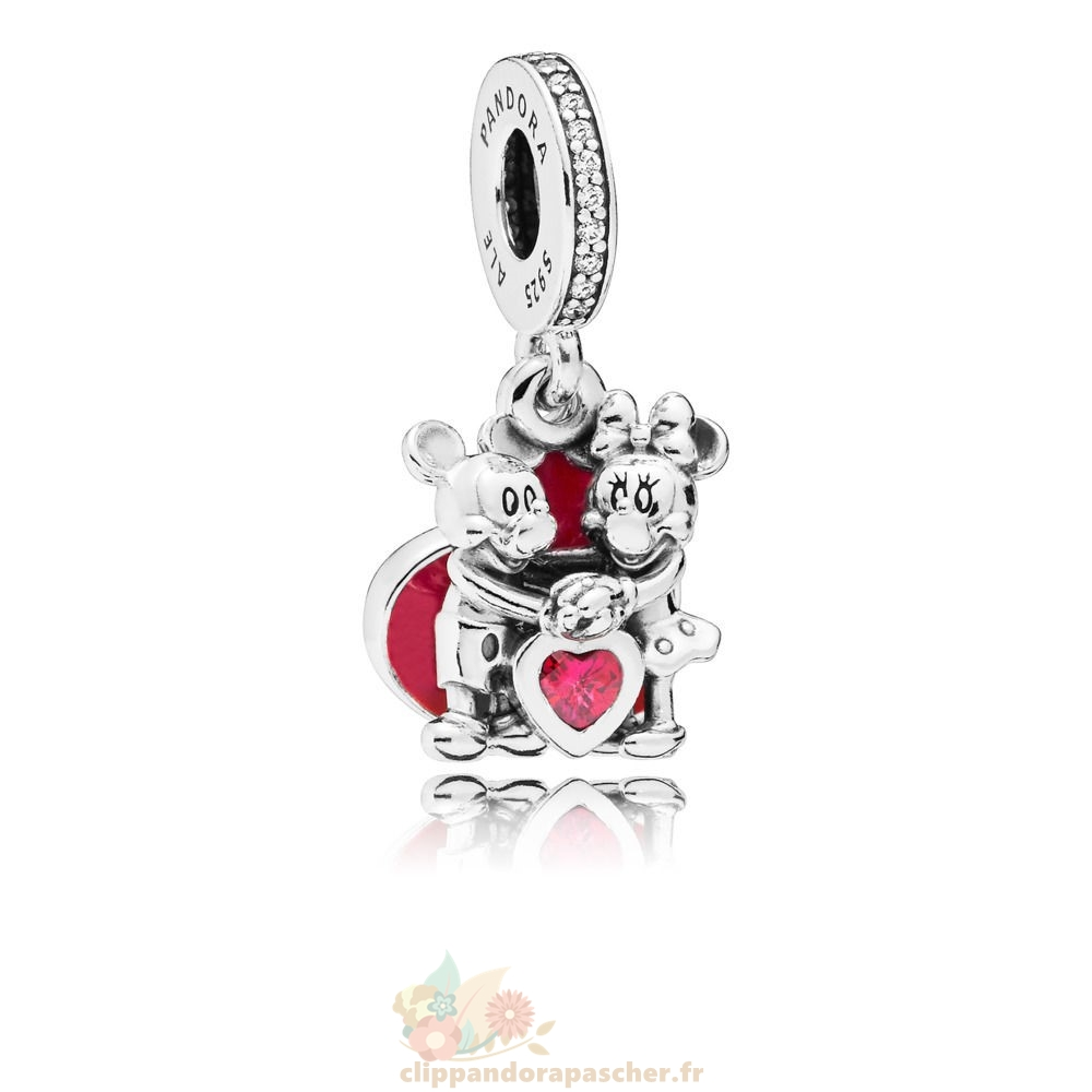 Discount Pandora Disney Mickey Et Minnie Avec Amour Suspendu Charme