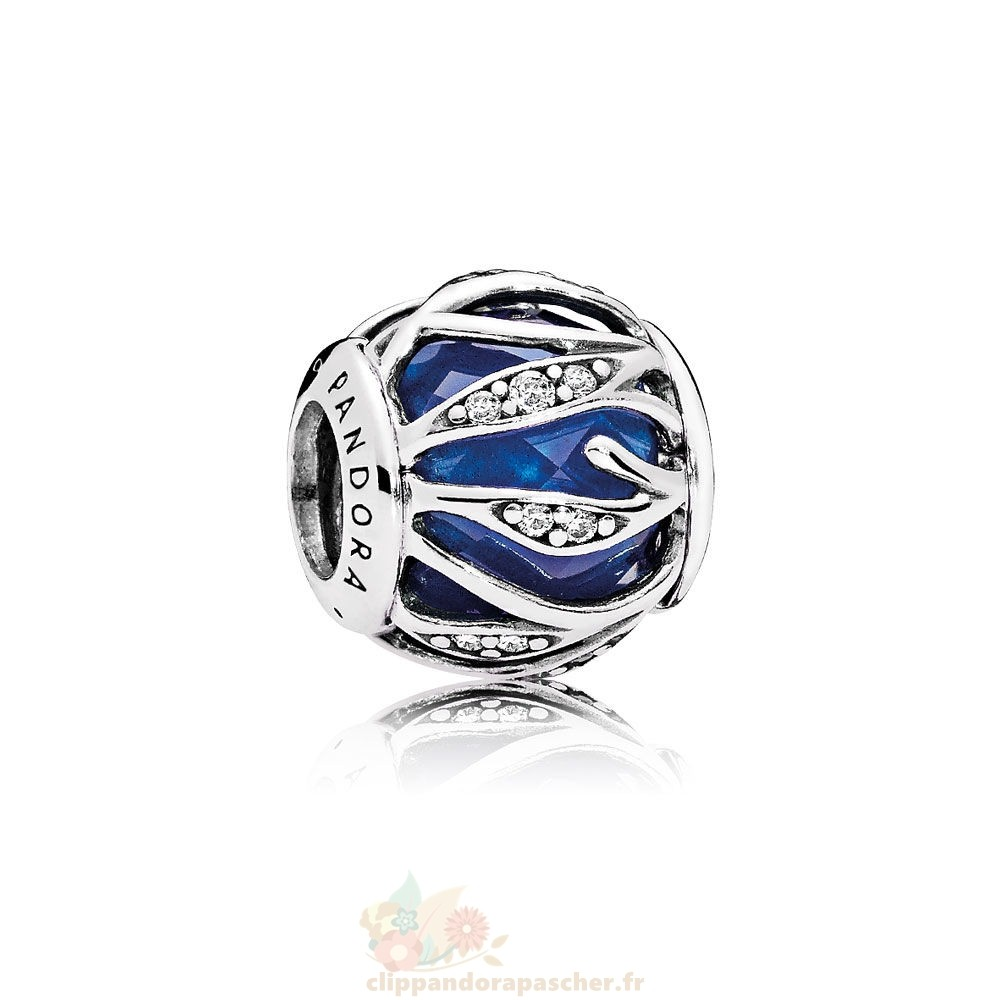 Discount Pandora Nature Breloques Nature'S Radiance Royal Blue Crystal Clear Cz Prix