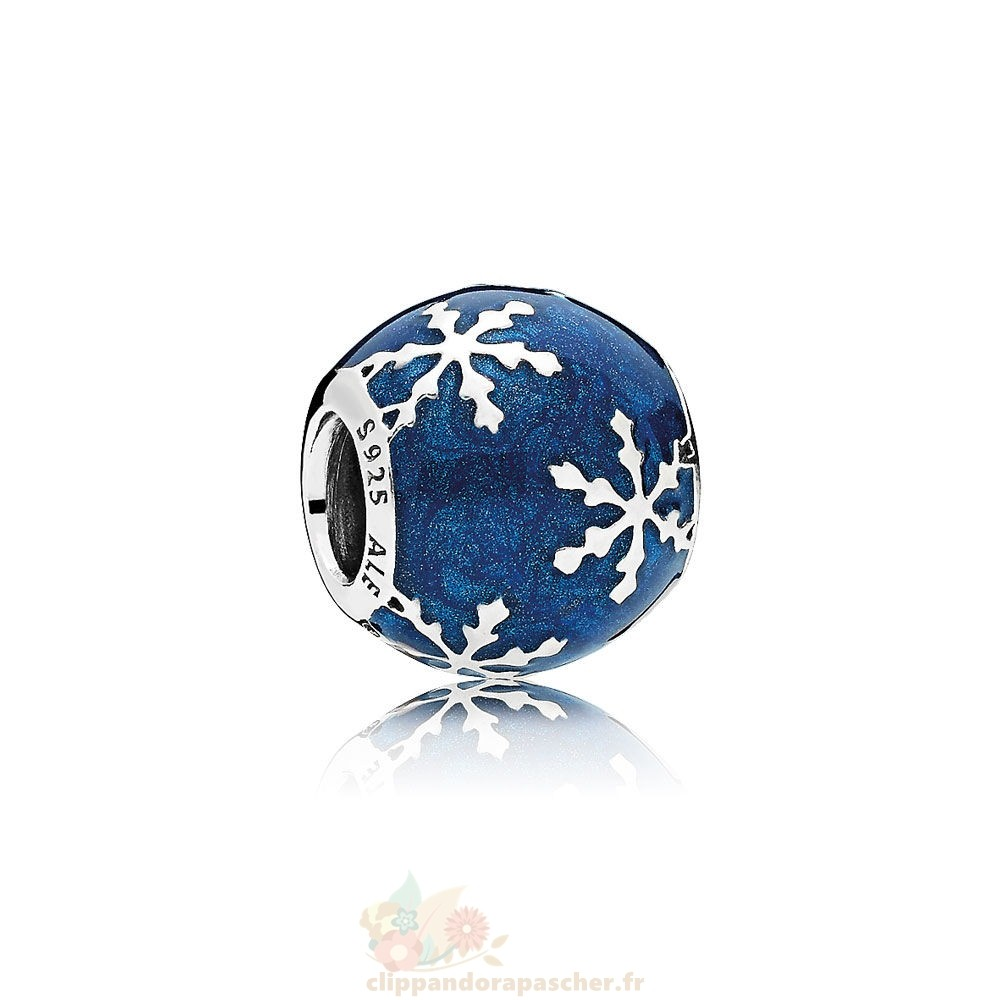 Discount Pandora Nature Charms Charme Delice Midnight Blue Enamel