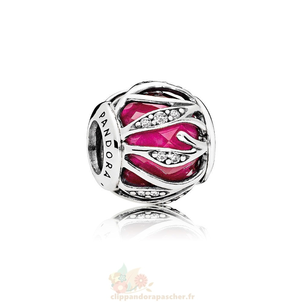Discount Pandora Nature Charms Nature'S Radiance Synthetique Ruby Clear Cz