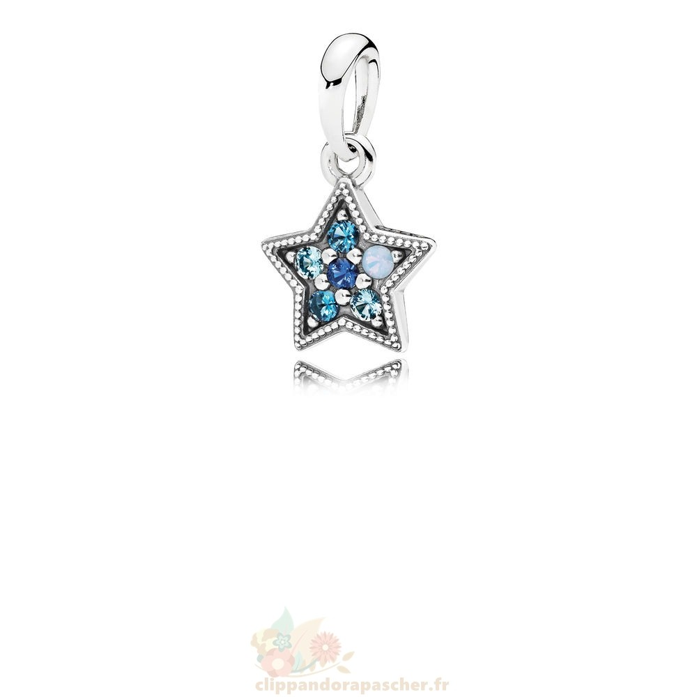 Discount Pandora Pandora Collection D'Hiver Bright Etoile Collier Pendentif Multi Coloured Crystals