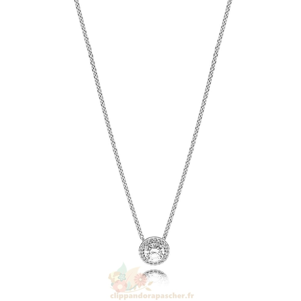 Discount Pandora Pandora Collection D'Hiver Classic Elegance Collier Clear Cz