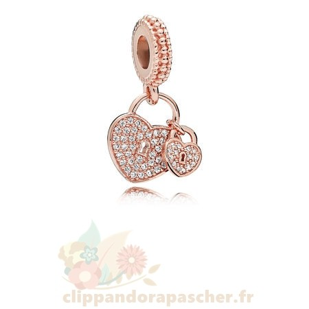 Discount Pandora Pandora Rose Amour Serrures Dangle Charm Clear Cz