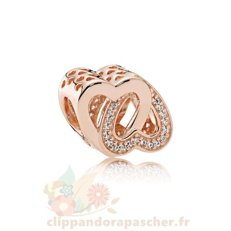 Discount Pandora Pandora Rose Entwined Amour Charm Clear Cz