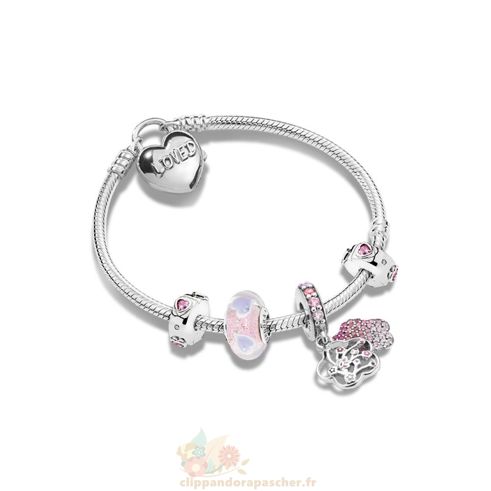 Discount Pandora Peach Flower Love Bracelets