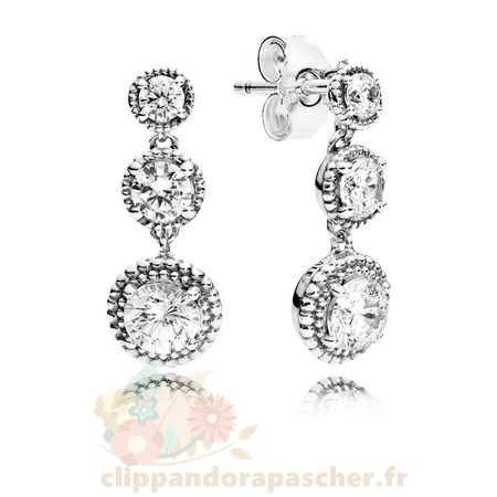 Discount Pandora Eternal Elegance Drop Boucles D'Oreilles Clear Cz