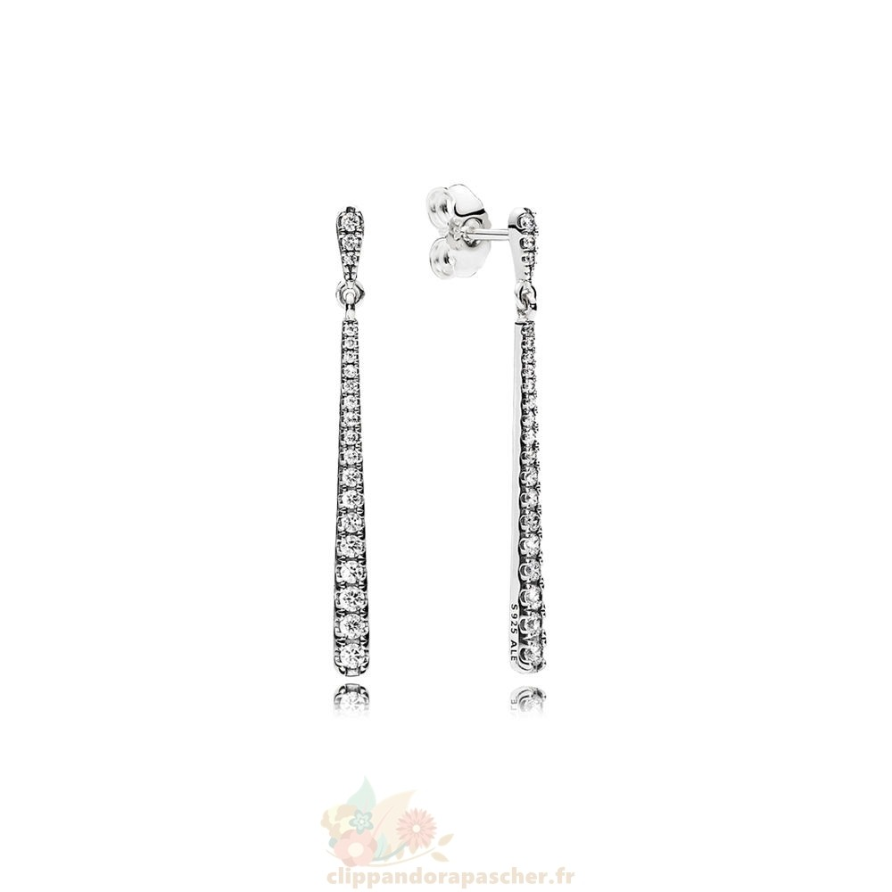 Discount Pandora Pandora Boucles D'Oreilles Boucles Dangle Etoiles Dangle Clear Cz