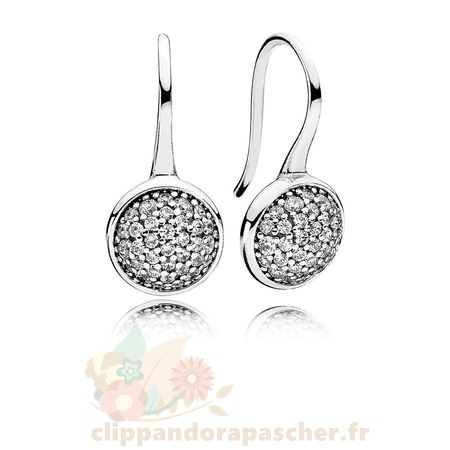 Discount Pandora Pandora Boucles D'Oreilles Dazzling Droplets Drop Clear Cz