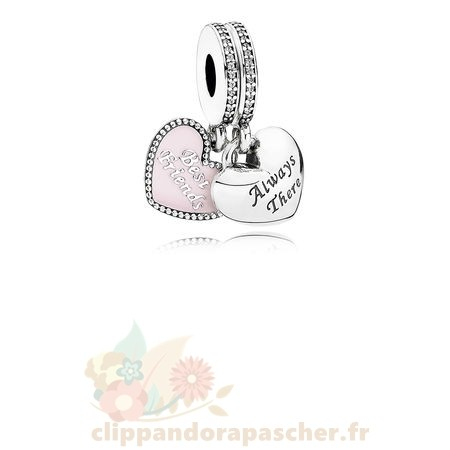 Discount Pandora Dangle Charms Meilleur Amis Soft Rose Email Clear Cz