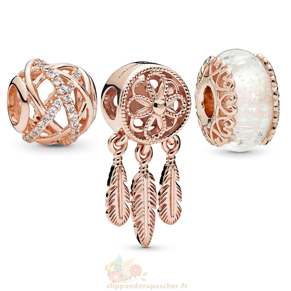 Discount Pandora Pandora Rose Sparkling Dream Catcher Charm Pack