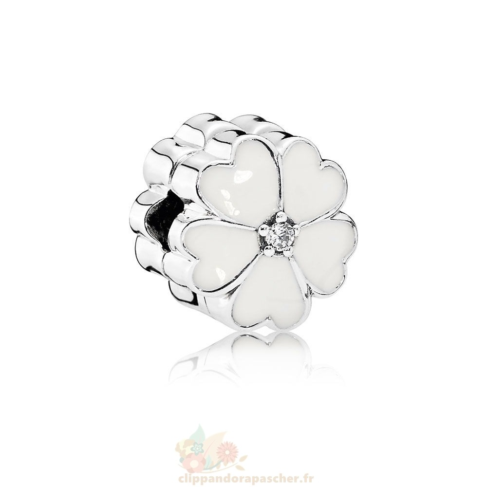 Discount Pandora Pandora Charms Nature Pince A Primevere Blanche Blanc Email Clear Cz