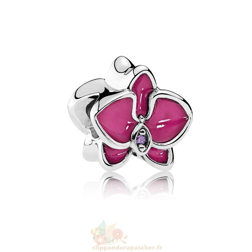 Discount Pandora Pandora Nature Charms Orchidee Charm Radiante Orchidee Email Violet Cz