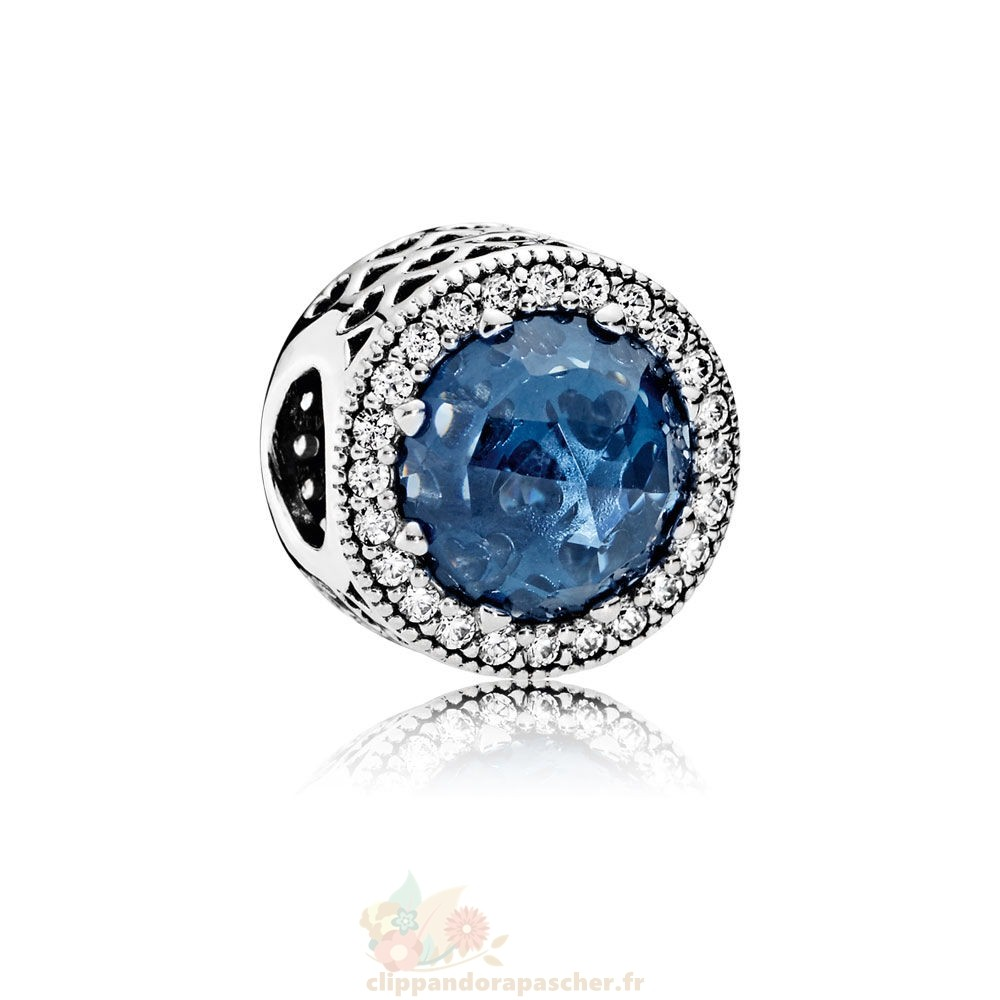 Discount Pandora Collection Coeurs De Radiant Moonlight Blue Crystal Clear Cz